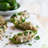 Stuffed Jalapenos with Sausage and Cream Cheese
