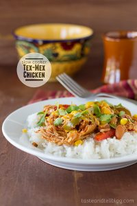 Slow Cooker Tex-Mex Chicken on Taste and Tell