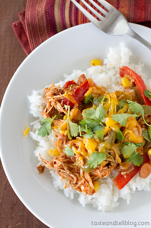 Slow Cooker Tex-Mex Chicken - Taste and Tell