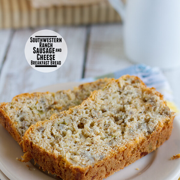 Southwestern Ranch Sausage and Cheese Breakfast Bread on Taste and Tell