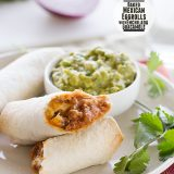 Baked Mexican Eggrolls with Enchilada Guacamole on Taste and Tell
