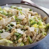 Caesar Salad with Pasta with Homemade Caesar Dressing