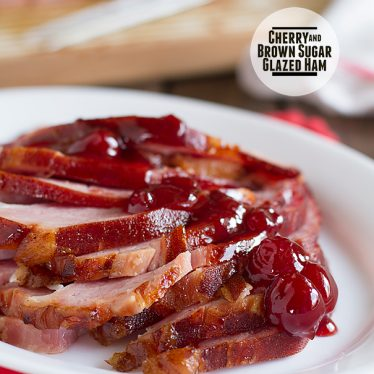 Cherry and Brown Sugar Glazed Ham on Taste and Tell
