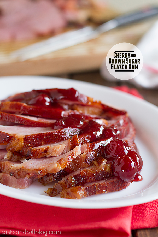 Cherry and Brown Sugar Glazed Ham