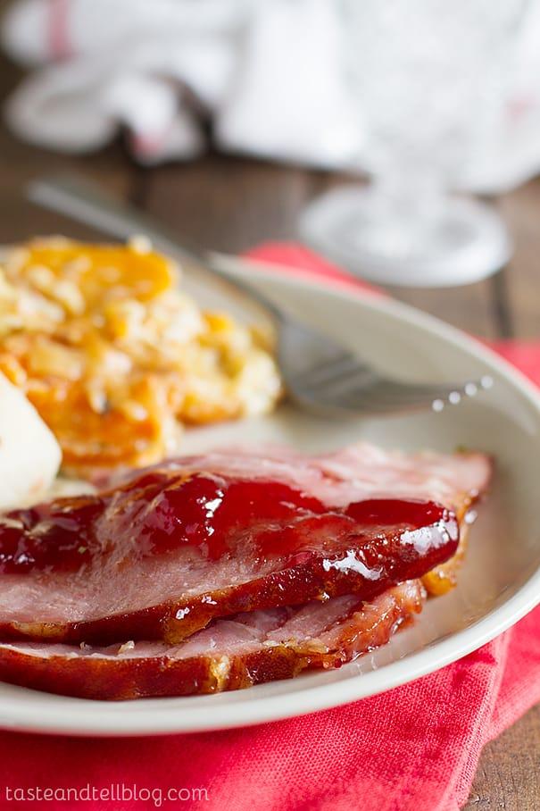 Cherry and Brown Sugar Glazed Ham