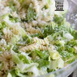 Fusilli Caesar Salad on Taste and Tell