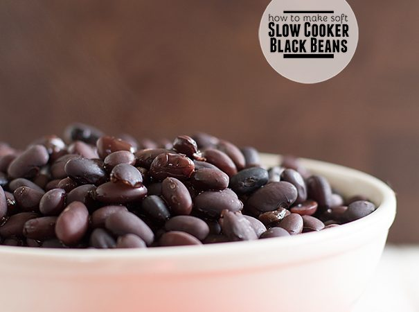How to make soft black beans in the slow cooker on Taste and Tell