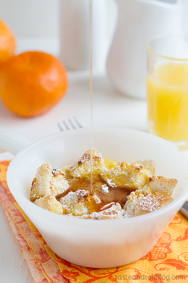 Individual Orange-Maple French Toast Casseroles on Taste and Tell