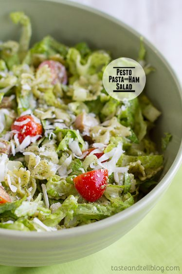 Pesto Pasta and Ham Salad on Taste and Tell
