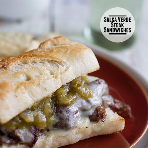 Salsa Verde Steak Sandwiches on Taste and Tell