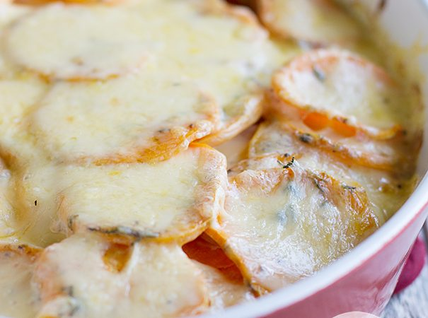 Scalloped Sweet Potatoes on Taste and Tell