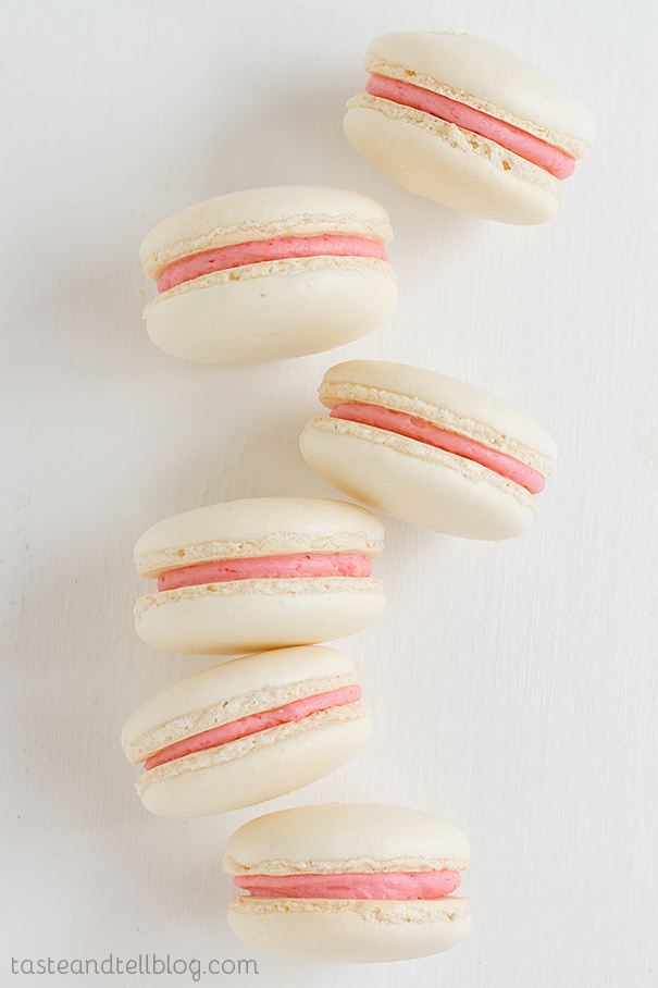 Strawberry Colada Macarons