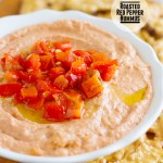 Roasted Red Pepper Hummus on Taste and Tell