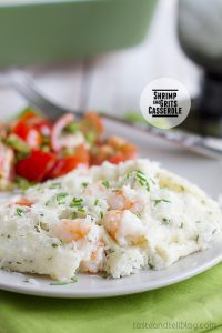 Shrimp and Grits Casserole on Taste and Tell