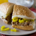 Slow Cooker Italian Beef Sandwiches