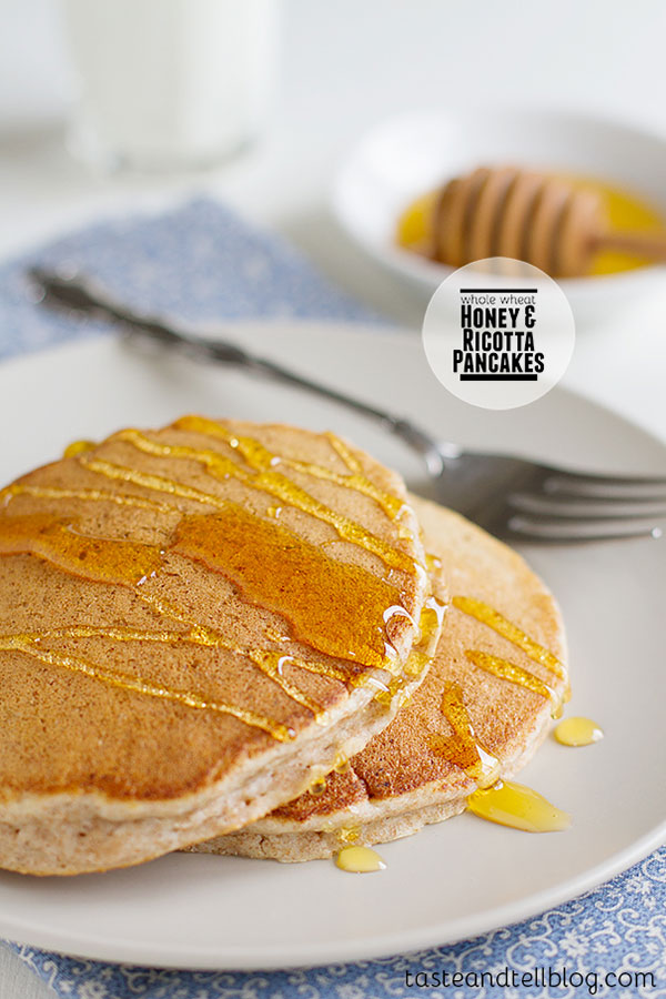 Whole Wheat Honey and Ricotta Pancakes