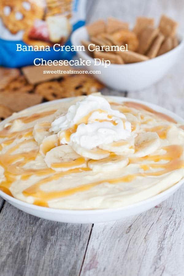 Banana Cream Pie Cheesecake Dip from Sweet Treats and More
