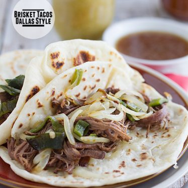 Brisket Tacos, Dallas Style on Taste and Tell