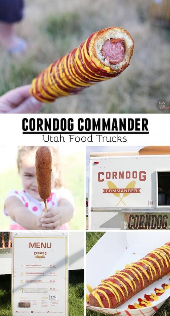 Corndog Commander - A Utah food truck serving piping hot corn dogs.