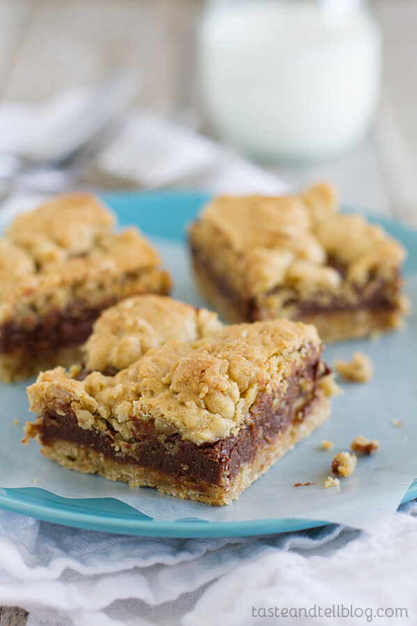 Oatmeal Fudge Bars on Taste and Tell