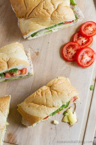 Turkey Artichoke and Basil Subs