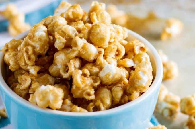 Baked Caramel Popcorn Recipe