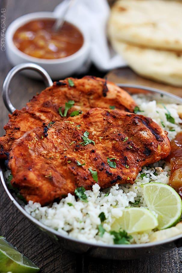 Grilled Tandoori Chicken from Creme de la Crumb