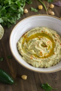 Hummus with Jalapeño and Lime from Food Faith Fitness
