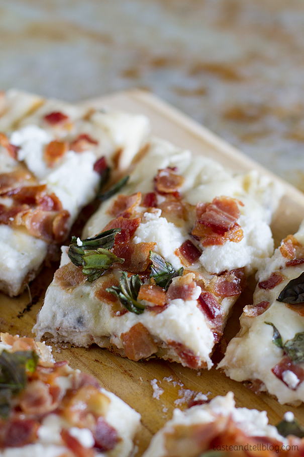 White Pizza recipe made on the grill