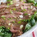 Korean Barbecue Flank Steak Recipe