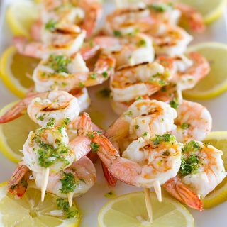 Grilled Lemon Shrimp Kabobs