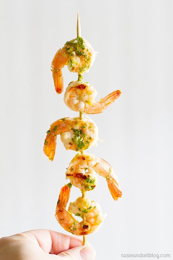 Easy and Fast Lemon Shrimp Kabobs