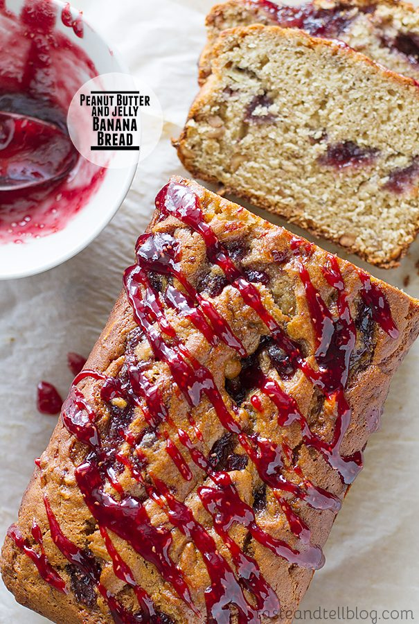 Peanut Butter and Jelly Banana Bread Recipe