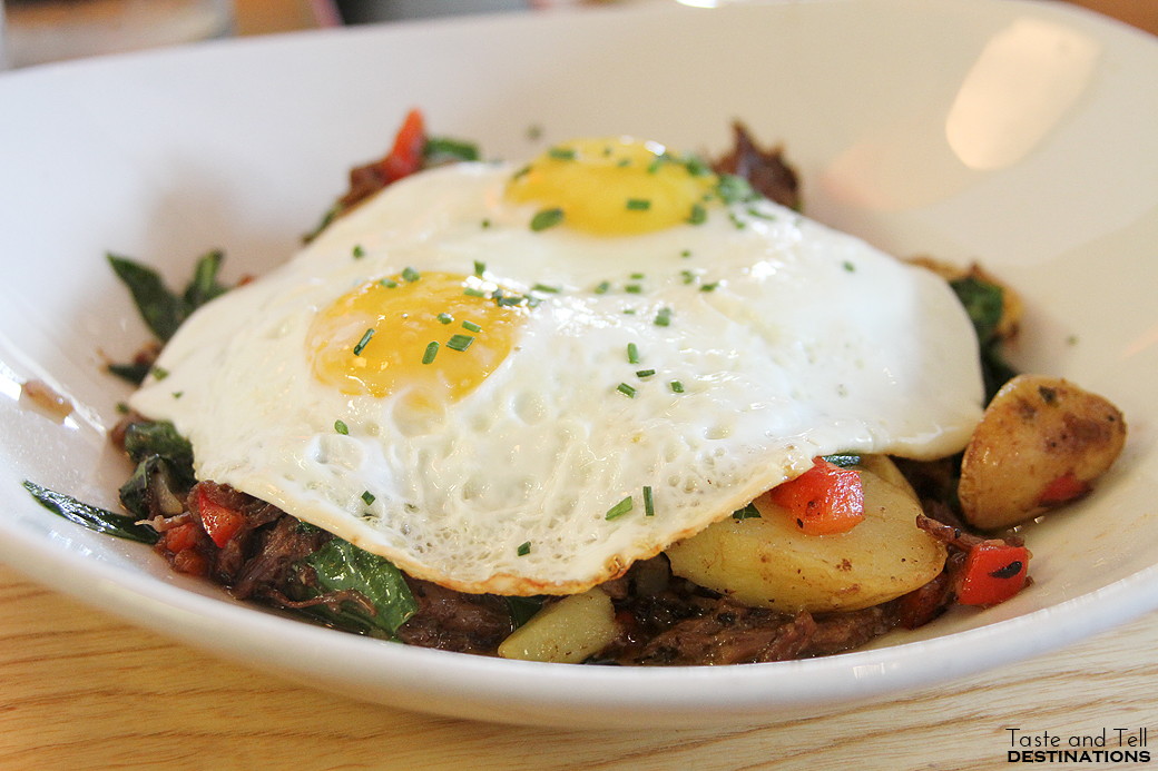 Smoked Brisket Hash at South Congress Cafe