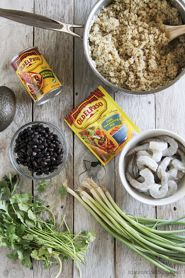 Ingredients for Southwestern Shrimp Quinoa Recipe