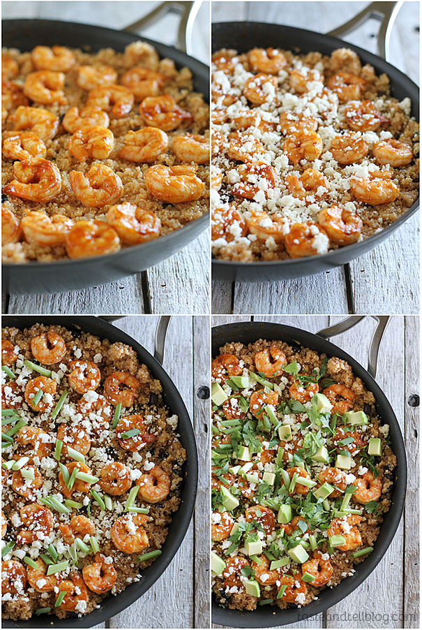 collage for Southwestern Shrimp Quinoa Recipe