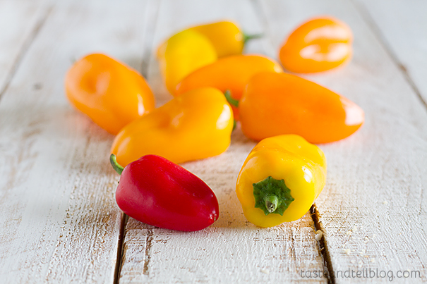 Peppers for Steak and Potato Kabobs
