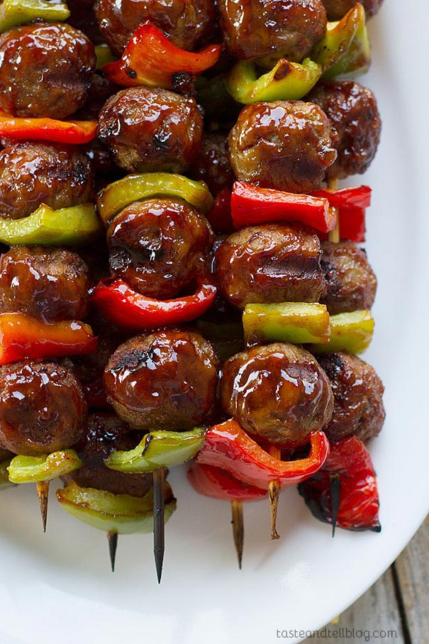 These Sweet and Sour Meatball Skewers are perfect for nights when you are short on time and energy.