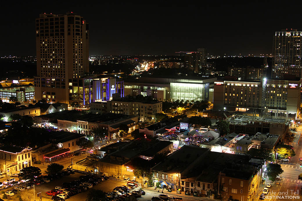View from Room at The Omni Hotel in Austin Texas