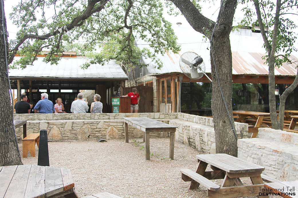 Outside at The Salt Lick in Austin