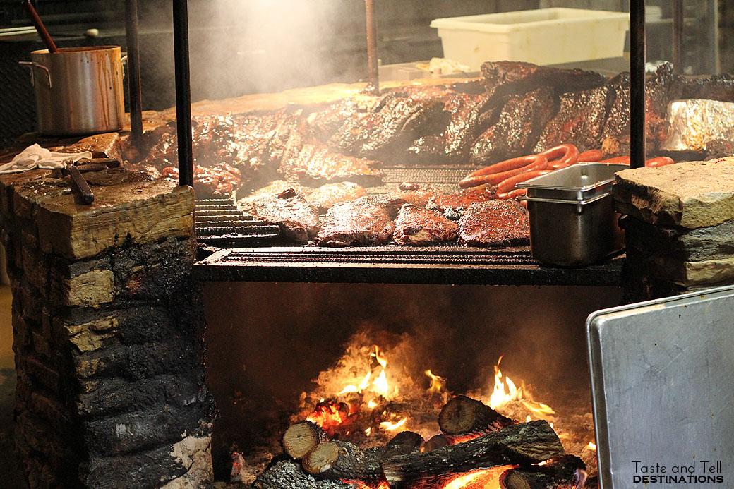 The Fire pit at The Salt Lick