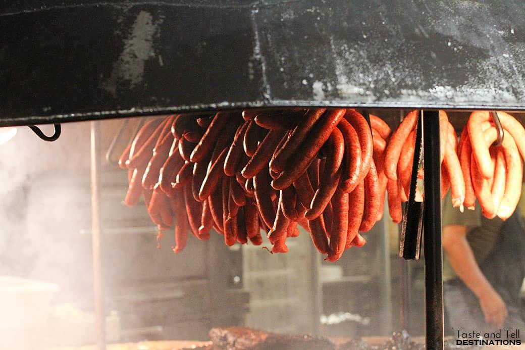 Sausages at The Salt Lick
