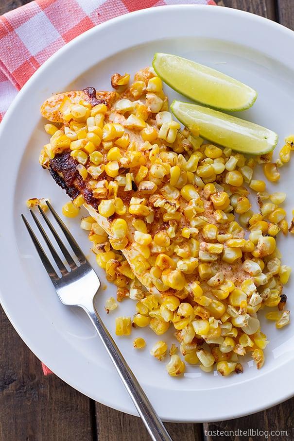 Roasted Corn Tilapia
