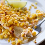 Recipe for moist tilapia with roasted corn