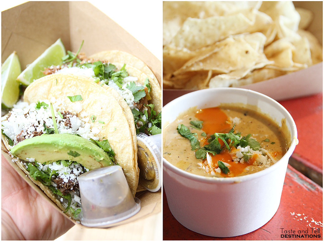 The Democrat and Green Chile Queso from Torchy's Tacos