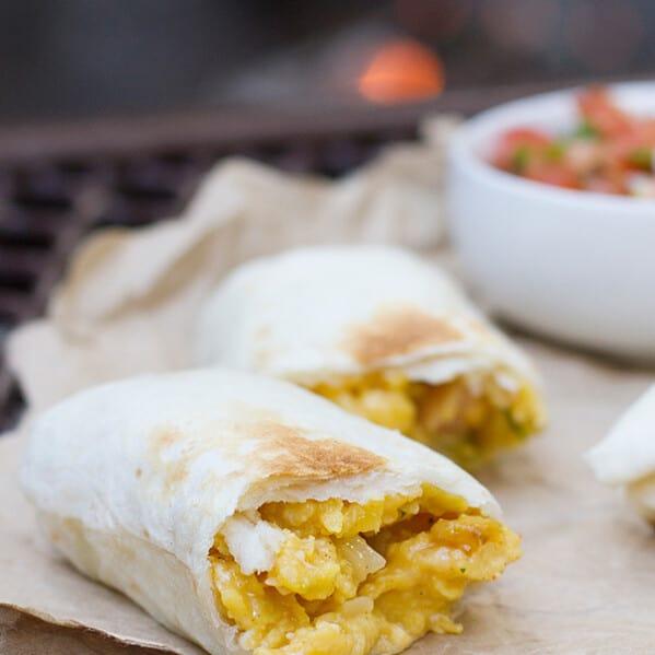 Breakfast Burritos - Campfire Style