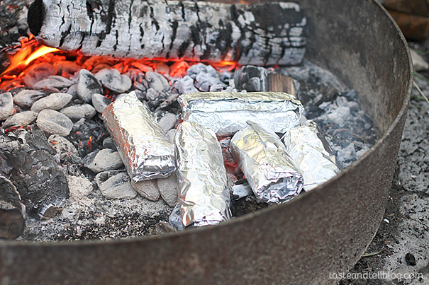 Make ahead Breakfast Burritos for Camping
