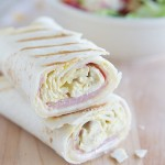 Grilled Chicken Cordon Bleu Wraps