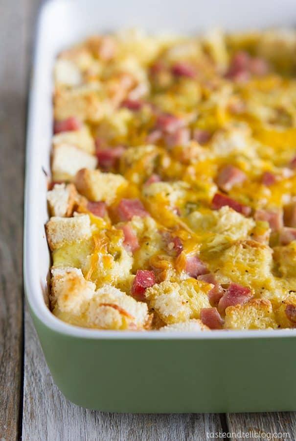 Ham and Cheese Breakfast Casserole Recipe