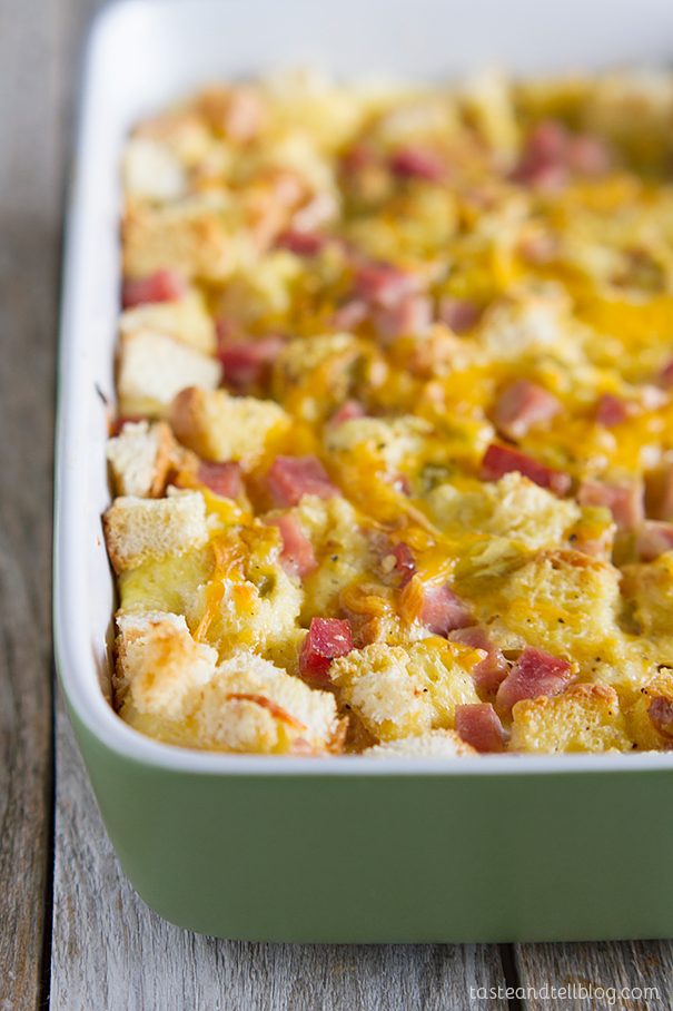 Ham and Cheese Breakfast Casserole Recipe - Taste and Tell